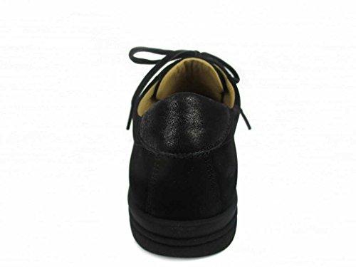Hartjes  82062-0101, Chaussures de ville à lacets pour femme Noir