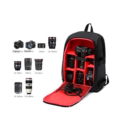 1c43f87a5a ... Zaino per fotocamera SLR e accessori Zaini per fotocamera reflex/laptop  , Red purple ...