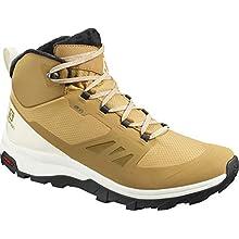 SALOMON Men's Outsnap Cswp Walking Shoe, Brown Bistre Vanilla Ice Black, 10 UK