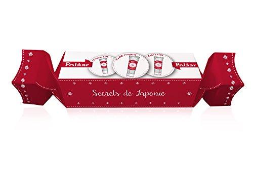 Polaar - Coffret Cracker La Véritable Crème de Laponie aux 3 Baies Arctiques - Visage 20 ml + Mains 25 ml + Lèvres 10 ml