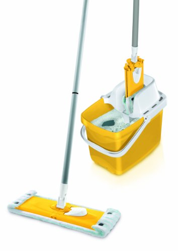 Leifheit Combi Clean Set M, 3P., incl. Mocio, Secchio & Inserto Strizzastore Combi Press Sunflower Yellow / Giallo, 52047