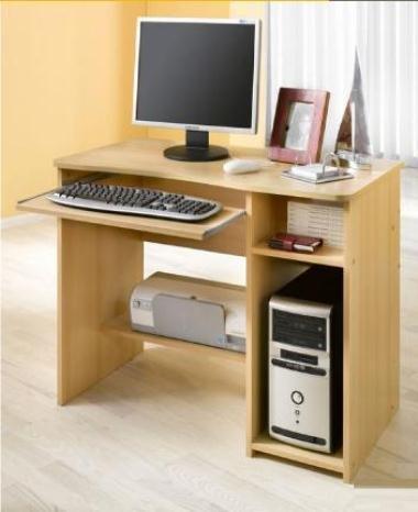 8048 - Schülerschreibtisch / Computertisch / PC-Tisch / mehrere Farben, buche