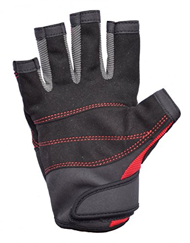 Musto Essential Sailing Short Finger Gloves RED AS0813 Sizes- - Large -