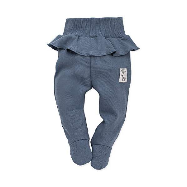 Pinokio - Petit Lou - Pantalones de Bebé Niñas/Pantalón de Mameluco recién Nacido - Azul Rosa- 100% Algodón durmientes… 1