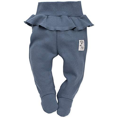 Petite Hose (Pinokio - Petit Lou - Baby Hose/Strampler Hose Neugeborene - Rosa Blau - 100% Baumwolle Schlafhose mit Füßen (elastischer Bund) (56 cm, Blau))