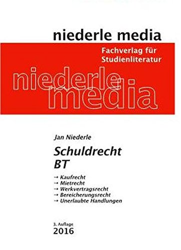 Schuldrecht BT. Karteikarten: Kaufrecht - Mietrrecht - Werkvertragsrecht - Bereicherungsrecht - Unerlaubte Handlungen