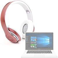 DURAGADGET Auriculares Plegables inalámbricos en Color Rosa para Portátil Chuwi LapBook Air/InnJoo LeapBook A100