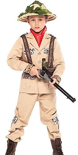 Fancy Me 6 Stück Jungen Safari Jungle Jäger Karneval Halloween Kostüm Outfit 3-10 Jahre