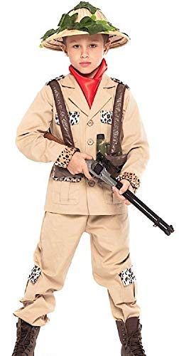Fancy Me 6 Stück Jungen Safari Jungle Jäger Karneval Halloween Kostüm Outfit 3-10 - Safari Kostüm Halloween