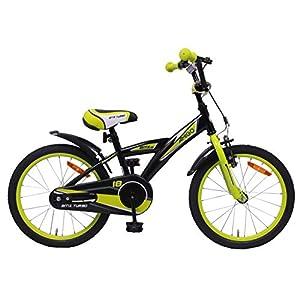 AMIGO - BMX Turbo - Bicicletta Bambini - 18'' (per 5-8 Anni) - Nero/Giallo