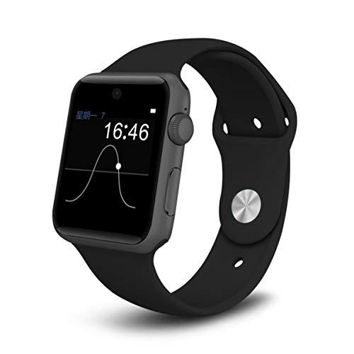 Uomo Donna Smartwatch WristWatch 4.0 Cellulare Chiamata bidirezionale Anti Lost G Sensor Card SIM DM09 (Deep Black) (Togames)