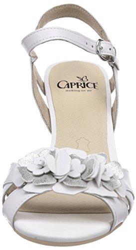 Caprice 28303 Damen Sandalen Weiß (WHITE/100)