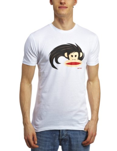 Paul Frank Herren Bedruckt T-Shirt Gr. Medium, weiß (T-shirts Von Paul Frank)