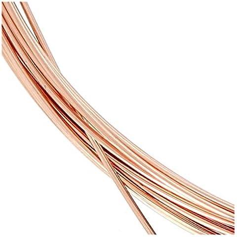 Hilo flexible 0.64 mm de Rosa Gold filled 14K x 1 m