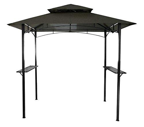 Bentley - Pavillon de jardin - idéal pour barbecue - gris (disponible en beige) - 2,4 m x 1,5 m