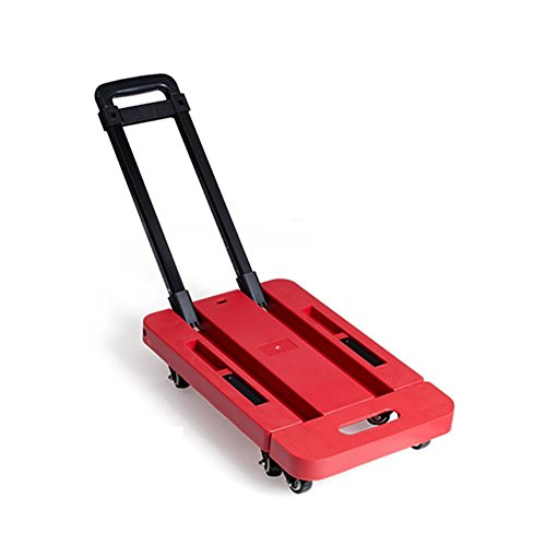 Carrello Pieghevole con Ruote capacità di 150 Kg/330 Lbs Portatile Carrello per Bagagli, Viaggi, Auto