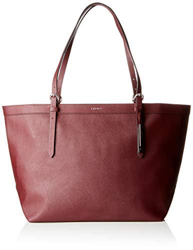Esprit Accessoires Damen 998ea1o804 Tote, Rot (Bordeaux Red), 18x30x33 cm