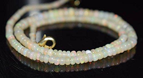Welo Fire Opal 3-6mm glatt Perlen Form 40,6cm neclaces ()