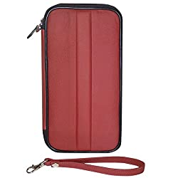 Style98 Unisex Leather Passport Wallet||Travel Chequebook Holder||Travel Organiser Wallet