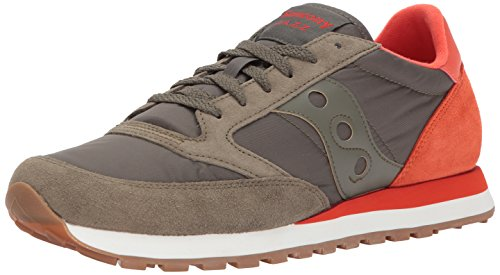 Saucony Jazz Original, Sneakers Basses Homme Vert (Olive/cherry)