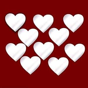 Heart - Decorazione da parete per il soggiorno, le porte, le finestre, il bagno, il frigo