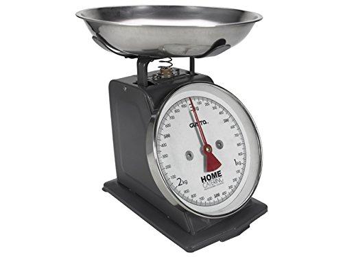 Küchenwaage mechanisch Nostalgie, bis zu 3 kg, dunkelgrau