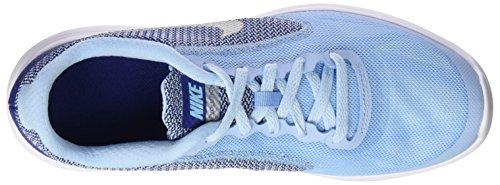 Nike Revolution 3 (Gs), Chaussures de Course Femme Azul (Bluecap / Metallic Silver-Deep Royal Blue)