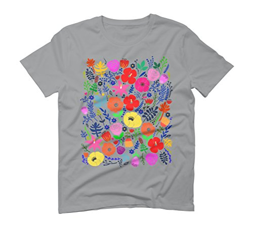 Secret Flower Garden Men's Graphic T-Shirt - Design By Humans Opal