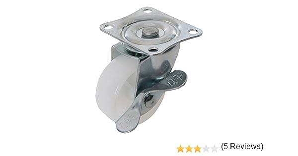 Quincaillerie Du Meuble Fixman 112547 Roulette Pivotante En Polypropylene Avec Frein 50 Mm 50 Kg Bricolage Bimport Cl