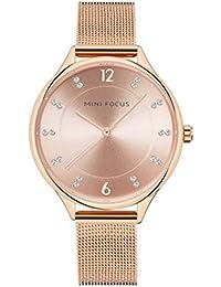 Reloj Impermeable de la Mujer Moda Cinturón de Plantilla Reloj del Negocio-D