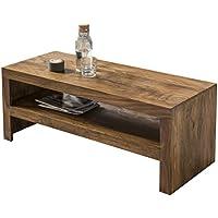 Wohnling Couchtisch Massiv Holz Sheesham 110 Cm Breit Wohnzimmer Tisch  Design Landhaus Stil