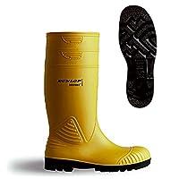 Dunlop Acifort Heavy Duty Safety Wellington. Yellow - A442231