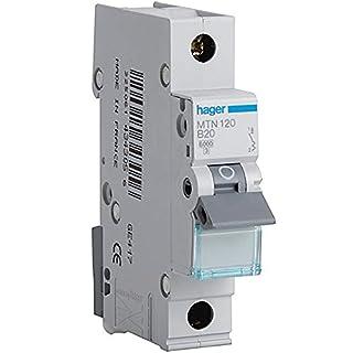 Hager mtn120Miniatur Leitungsschutzschalter, 1Stange, 1Modul, Typ B, 6kA Breaking Kapazität 20A Strom