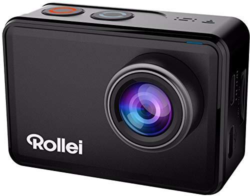 Rollei Actioncam 560 Touch-Cámara de acción WiFi resistente al agua (4k 60 FPS) Cámara deportiva con pantalla táctil, filtro subacuático, objetivo gran angular de 160° p. disparos a intervalo