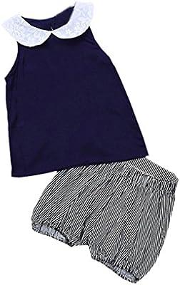SMARTLADY Niña Verano Princesa Chaleco + Pantalones Cortos