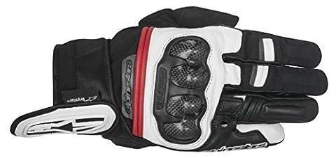 Alpinestars - Motorcycle gloves - Alpinestars Rage Drystar Black White Red - M