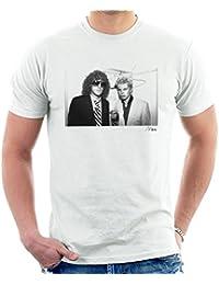 Richard Mann Official Photography - Billy Idol With Ian Hunter From Mott The Hoople Men's T-Shirt