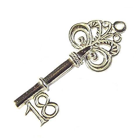 Sterling Silver 18th Birthday Key Charm