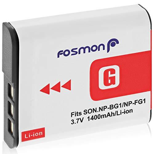 Fosmon Premium Sony NP FG1 / NP BG1 Batteria ricaricabile Li on tipo G ad alta capacità per fotocamere Sony Cyber Shot serie W