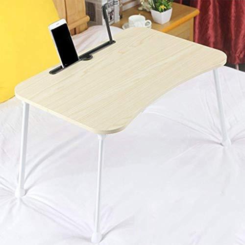 WNTHBJ Klappbarer, Erhöhender Schreibtisch, Kleiner Computertisch, Fauler, Einfacher Arbeitszimmer-Tisch, Tragbarer Esstisch, Familie, Büro, Picknick,E -