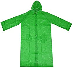 L-128 Unisex Rain Coat (Green)