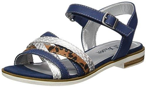 s.Oliver Mädchen 48208 Offene Sandalen mit Keilabsatz, Blau (Navy 805), 31 EU