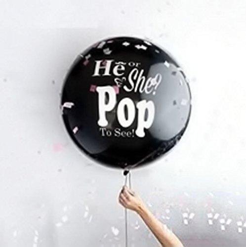 lloon mit Aufschrift und 10m weißem Ballonband (Rosa Und Schwarze Ballons)