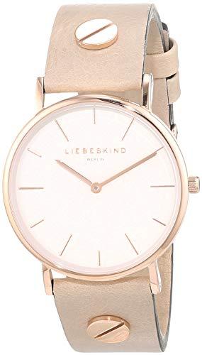Liebeskind Berlin Damen Analog Quarz Uhr mit Leder Armband LT-0163-LQ