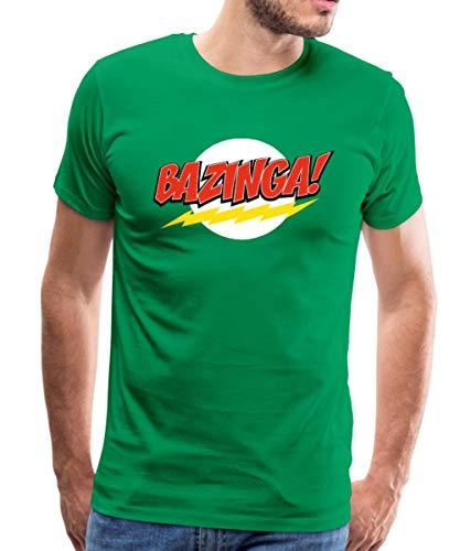 Spreadshirt The Big Bang Theory Bazinga Männer Premium T-Shirt, 4XL, Kelly Green -