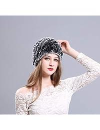Sombrero de Piel de visón Mujeres Invierno Mullido Gorro de Punto Cálido  Esquí Sombreros de piña 5c10d8b1cedf
