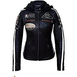 Urban Leather 58 Chaqueta de Damas, Negro
