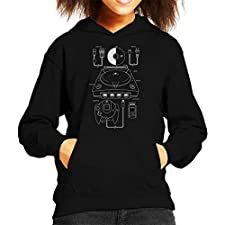 Sega Dreamcast Patent Blueprint Kid's Hooded Sweatshirt