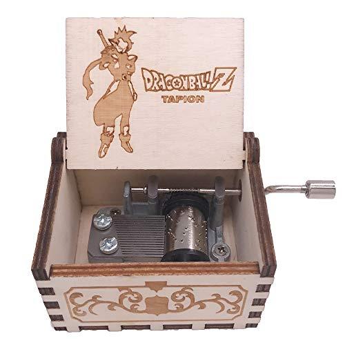 Youtang Dragon Ball - Caja de música, diseño de Bola de dragón, Tallada en Madera, Regalo Musical, Juguete con Bola de dragón