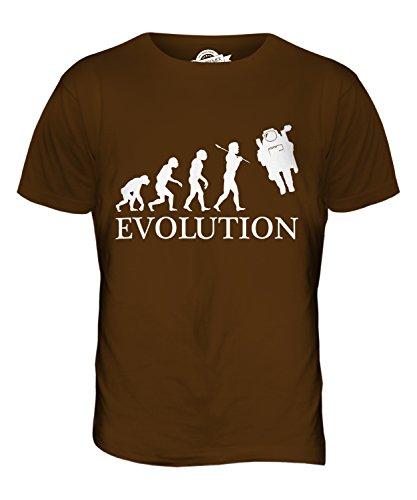 CandyMix Raumfahrer Evolution Des Menschen Herren T Shirt Braun